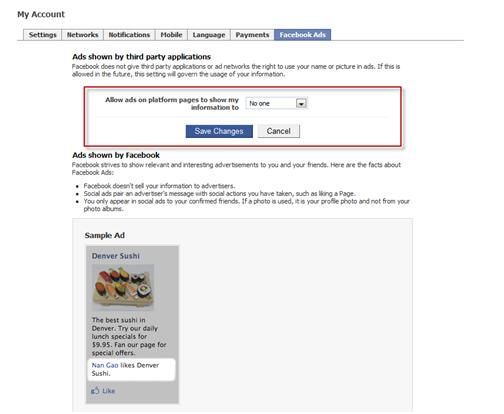 Account Settings _Facebook Ads