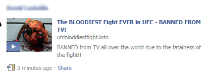 "Facebook WARNING: Avoid the ""The BLOODIEST Fight EVER - BANNED FROM TV!"" SCAM"