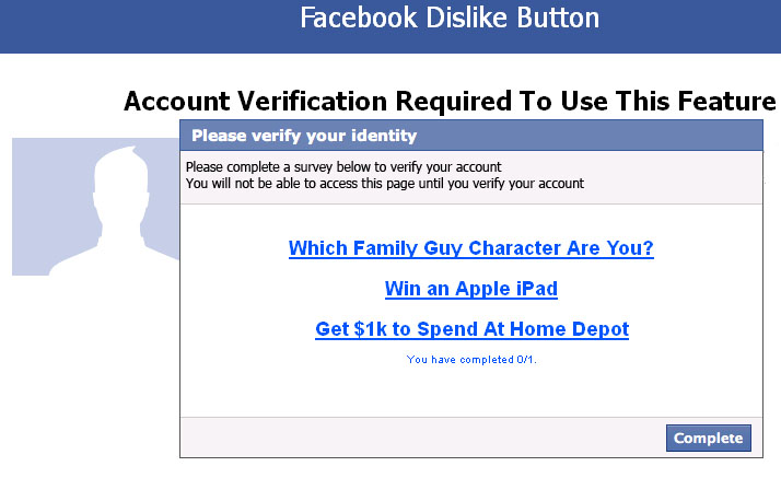 "Facebook WARNING: Avoid the ""Facebook Now Has A Dislike button"" SCAM"