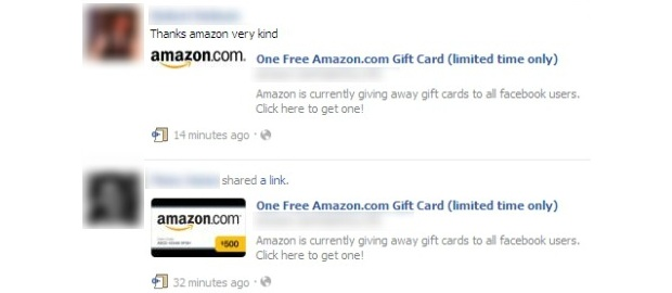 "Facebook WARNING: Avoid the ""One Free Amazon.com Gift Card (limited time only)"" SCAM"