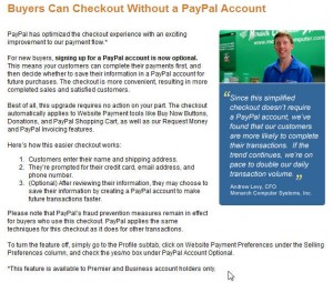 paypal account optional misleading