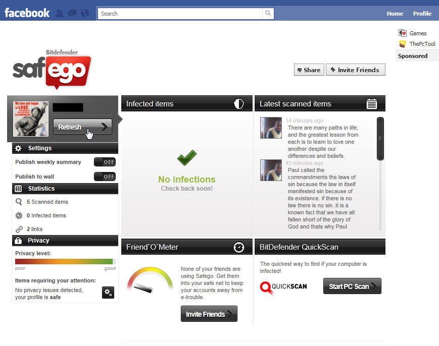 STOP Facebook Scams for FREE using the Safego App from Bitdefender