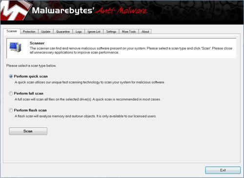 malwarebyte's anti-malware